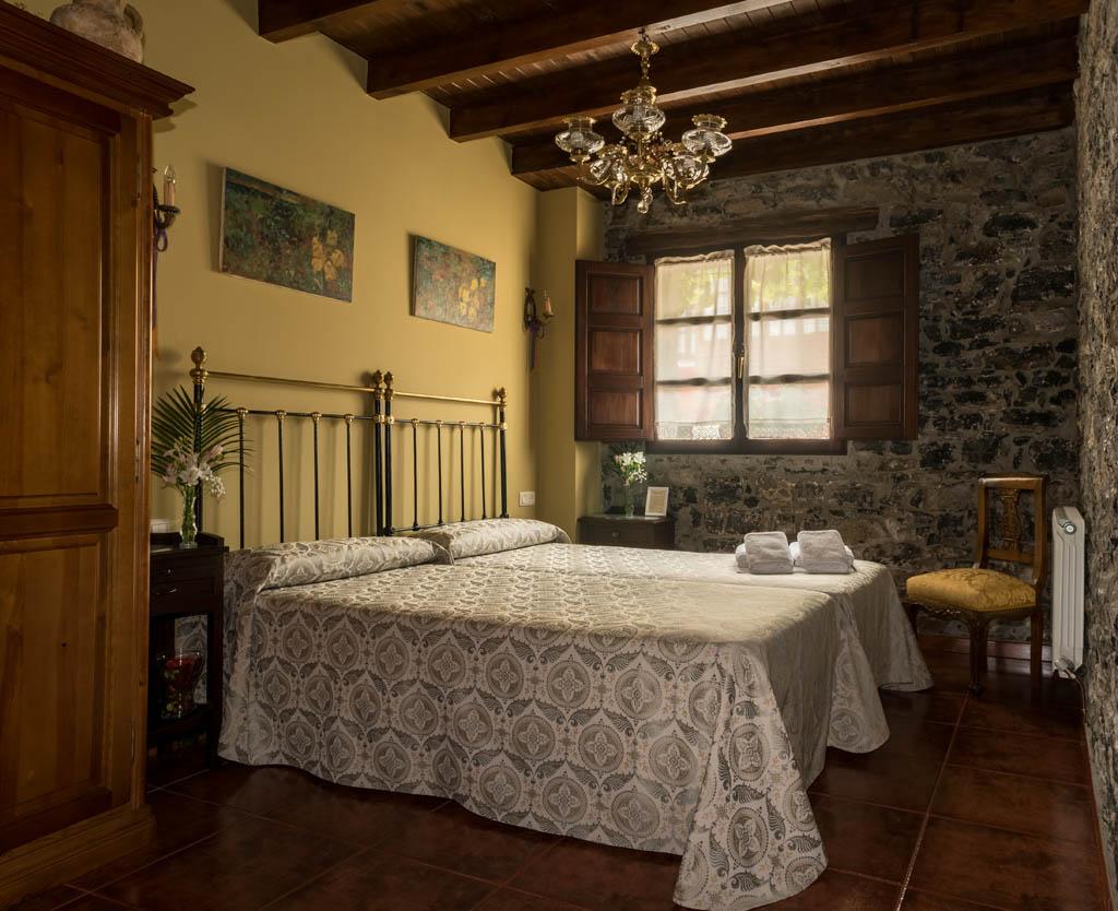 Acogedora habitación de dos camas